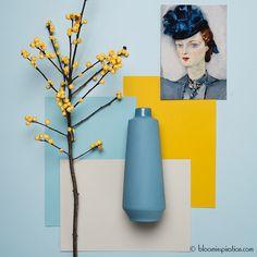 BloomInspiration heeft een nieuwe categorie op de blog: kleurinspiratie! Ben jij op zoek naar mooie kleurcombi's voor je huis? Bijvoorbeeld om je huis op te frissen of gewoon omdat je zin hebt in een nieuw kleurtje in huis? Houdt dan de blog van BloomInspiration in... Bedroom Color Combination, Mood Board Interior, Yellow Interior, Showroom Design, Colour Pallette, Color Theory, House Colors, Colorful Interiors, Decoration