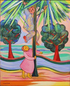 A Colheita - Cícero Dias e suas principais pinturas ~ Pintor pernambucano Georges Braque, Henri Matisse, Arte Pop, Art History, Art For Kids, Pop Culture, Objects, Canvas, Artist