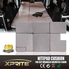 *SPECIAL* Xprite NitePad Premium Portable Sleeping Pad Cushion Fits Jeep Wrangler JKU 2007-2017 - TAN