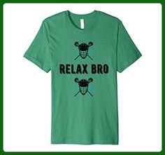 Mens Lacrosse T-Shirt ReLaX Bro, Cool, Lacrosse Player T Shirt 3XL Kelly Green - Sports shirts (*Amazon Partner-Link)