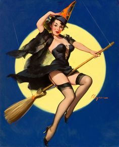 Gil Elvgren American [Artistic] Illustrator...Of Classic Pin-Up Girls...Of The 1940s and 50s - Darkness To Light...