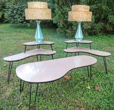 Pair Original 1950's Turquoise Lamps 2 Tier Spaghetti Fiberglass Shades
