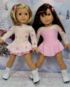 Lee and Pearl Skaters - Available in my Etsy Store DollClothesbyShirley