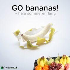 Er du gal i skrællen – det er lækkert!   Se mere om frugtkurve til din arbejdsplads på: www.frugtkurven.dk