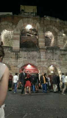 Waiting outside the arena di verona to see the second half of Placido Domingos Gala Concert.