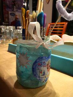 Lavoretti per bambini: Porta-pennelli Frozen