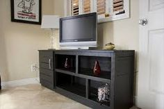 tv cabinet made from pallets