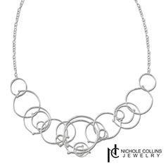 For dressing casual or elegant, this Multi-Circle Chain necklace from Nichole Collins Jewelry is a must-have!