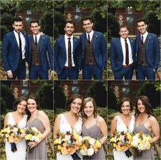 photo with each bridesmaid and grooms man : fall wedding : BLAKE + NICOLE (Salvage One, Chicago) - Janelle Elise photography