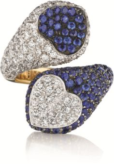 PHILLIPS : NY060211, Enigma, A Diamond and Sapphire 'Cuore' Ring