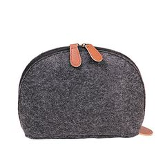 Soft Shell Shape Felt Handbag Makeup Bag Travel Pouch Storage Bags Organizer Purse Black >>> Continue to the product at the image link. Note: It's an affiliate link to Amazon
