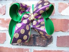 Jumbo X Large 2 Layer Emerald Green Purple by karenscreations1, $10.98