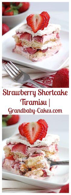 Strawberry Shortcake Tiramisu | Grandbaby-Cakes.com