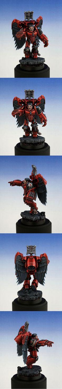 Blood Angels Space Marine Character (Gold, UK GD 2012). Manufacturer: Games Workshop. By glazed over