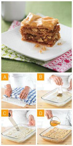 Qui aime les #baklavas? On vous propose notre #recette en 4 étapes faciles!