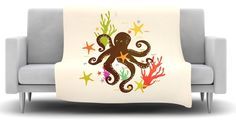 Friends Around The Sea Fleece Throw Blanket