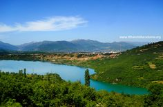 Debar Lake - artificial lake in the valley of Crn Drim river - Macedonia Nature Republic Of Macedonia, Where To Go, Natural Beauty, Places To Visit, River, Explore, City, Building, Nature