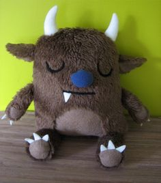 where the wild things are , gruffalo style plushie toy design Cute monster