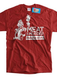 Funny Shirt meat eater BBQ Hunting Vegetarian BBQ by IceCreamTees, #bacon #giftsforguys #pig