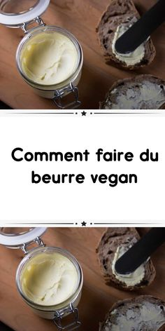 Beurre Vegan, Fromage Vegan, Vegan Desserts, Vegan Recipes, Vegan Vegetarian, Paleo, Lactose Free, Food To Make, Easy