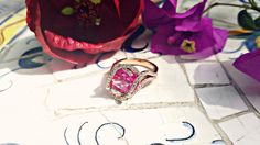 Pink Wednesday Inspiration   Wedding Wednesday   Wedding Ring Wednesday   Laurie Sarah Designs  - Handmade Fine Jewelry