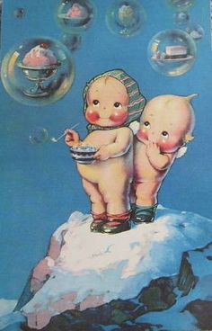 Vintage Postcard ~ Kewpie by chicks57