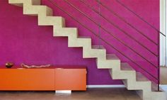 color and concrete stair