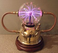 DIY Gadgets - Plasma Ball Lamp - Homemade Gadget Ideas and Projects for Men, Wom. - DIY Gadgets – Plasma Ball Lamp – Homemade Gadget Ideas and Projects for Men, Women, Teens and K - Lampe Steampunk, Steampunk Bedroom, Steampunk Kunst, Steampunk Furniture, Steampunk Crafts, Steampunk Gadgets, Steampunk House, Steampunk Earrings, Gothic Steampunk