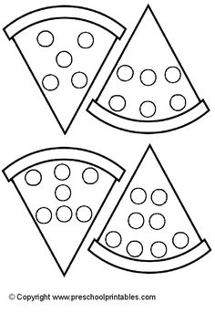 www.preschoolprintables.com / File Folder Game/ Pizza