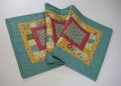 Patchwork Quilted Table Runner Table Topper by ForgetMeNotQuilteds