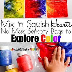 Mix 'n Squish Hearts: Valentine's Day Sensory Bags to Explore Color (Preschool, Toddler, Kindergarten)