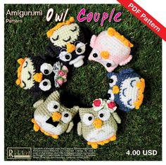 PDF Pattern - Amigurumi Owl Couple. $4.00, via Etsy.