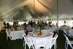 Combination seating white party tent wedding #jamestownawning