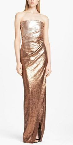 Fit for the red carpet: Donna Karan strapless ombré sequin gown