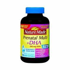 Nature Made Prenatal Multi + Dha, 200mg, 150 Liquid Softgels. by Nature Made, http://www.amazon.com/dp/B005G4YCHW/ref=cm_sw_r_pi_dp_qhlprb0HNX693