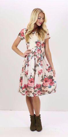 Eve Dress - Pink Floral