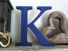 Freestanding Wooden Wedding Letter 'K' - - Georgia Style Font, various colours and finishes Freestanding Wooden Letters, Letter K Design, Alphabet Photography, Girl Photography, Calligraphy Name, Wedding Letters, Farrow And Ball Paint, Love Quotes Wallpaper, Cool Lettering