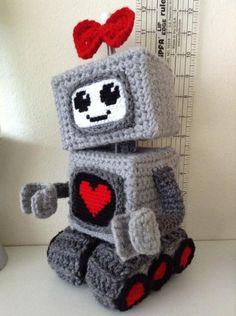 Girly Robot - Crochet creation by Betsi Brunson