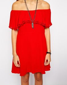Multilayer tassel short dress