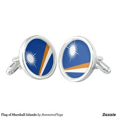 Flag of Marshall Islands Cuff Links