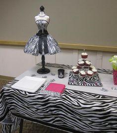 Decor for a Zebra Spa Party #zebra #spaparty