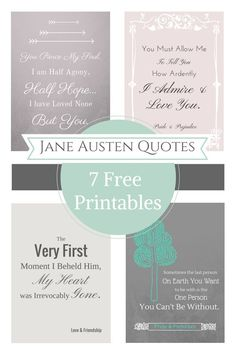Jane Austen Free Printable Quotes