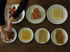 Chocolate meets design; cracker-pleat