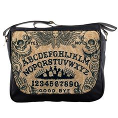 Ouija board messenger bag by ShayneoftheDead on Etsy, $49.99