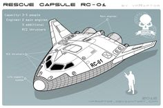 """Rescue Capsule - is the next concept for my project """"Signum Immortalis"""" (working title). And another collaboration work with comrade with our idea. Spaceship Concept, Spaceship Design, Concept Ships, Science Fiction, Space Anime, Kerbal Space Program, Space Illustration, Camo Colors, Nasa"""