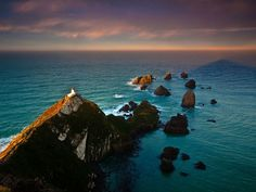 nugget point lighthouse, new-zealand