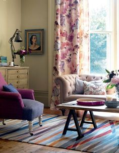 Color mix with lavender as the connecting color