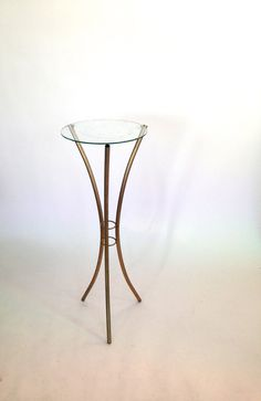 vintage DECO Metal PLANT STAND by VintageCommon on Etsy