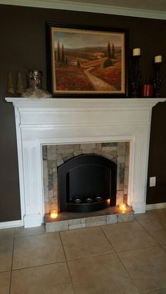 How to build a gel fuel fireplace small house ideas pinterest faux fireplace using gel burning wall mount solutioingenieria Gallery