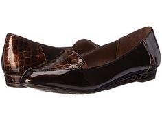 Soft Style Delany Dark Brown Patent/Croco - 6pm.com